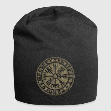 Vegvisir Futhark runes, Viking magic protection icon - Jersey Beanie