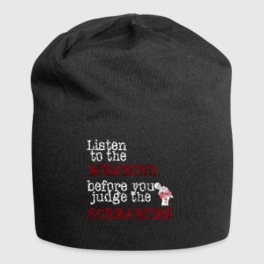 Listen To The Meaning Metalcore Gift Idea - Jersey Beanie
