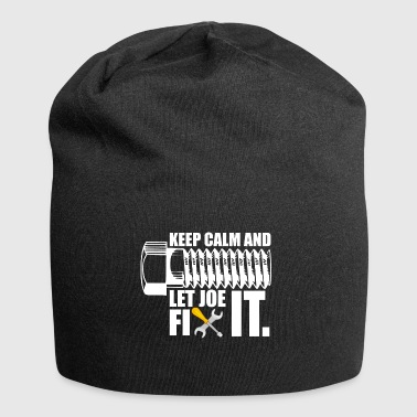 keep calm and let joe fix it - Jersey Beanie