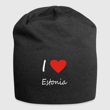Estonia heart gift idea - Jersey Beanie