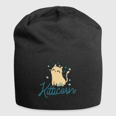 Kitticorn without horn - funny - cat - kitten - Jersey Beanie