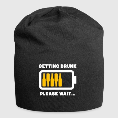 Funny Getting Drunk Please Wait Battery Bar - Jersey Beanie