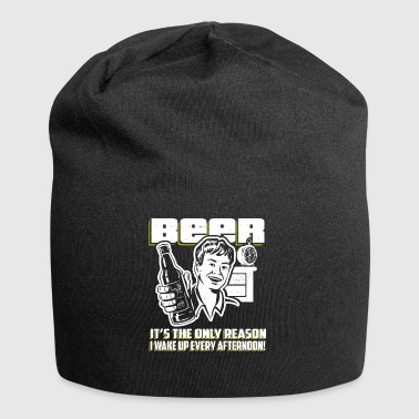 Beer Wakes Me Up Afternoon Gift - Jersey Beanie