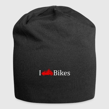 I love motorcycles gift idea rocker - Jersey Beanie
