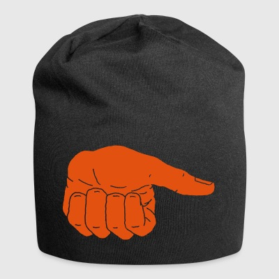 Thumb stretched in the air - Jersey Beanie