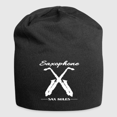 SAXOPHONE SAX RULES WHITE - Jersey Beanie
