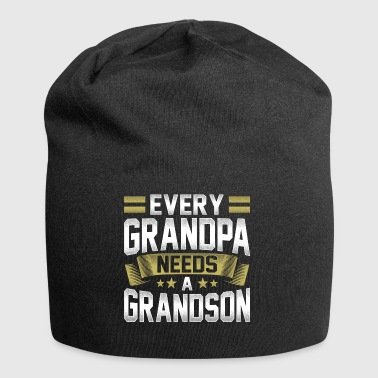 Every grandpa grandfather needs a grandson - Jersey Beanie