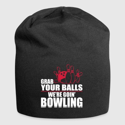 Bowler Bowling ball humor - Jersey Beanie