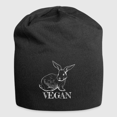 Cool Bunny Vegan Gifts for vegans Vegan Rabbit - Jersey Beanie
