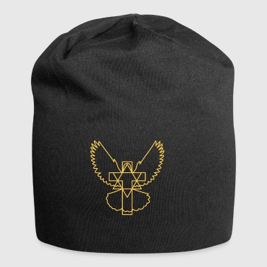 Cross dove star modern without beak - Jersey Beanie