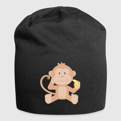 Monkey with banana - Jersey Beanie
