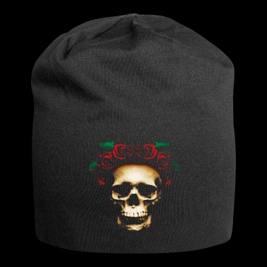 Skull with roses - Jersey Beanie