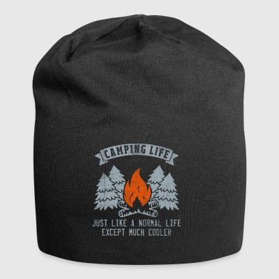 Camping Life Like Normal Except Much Cooler Gift - Jersey Beanie