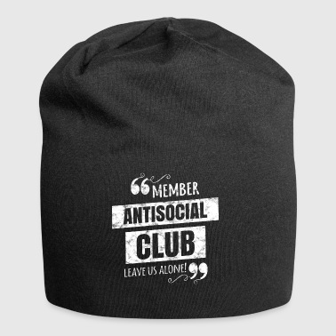 Antisocial Club Member - Leave us alone! - Jersey Beanie