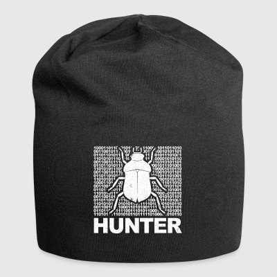 Coder Bug Hunter Geek T-shirt - Beanie in jersey