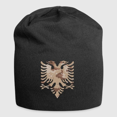 Military camouflage desert Albanian flag - Jersey Beanie