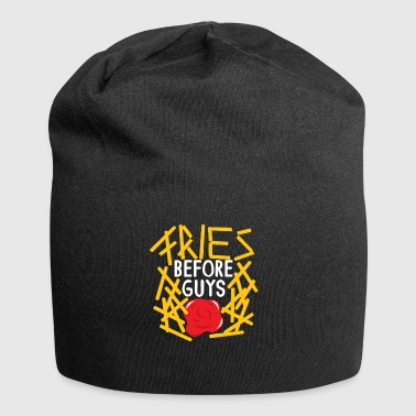Fries Before Guys Geschenk Pommes Fastfood Funny - Jersey-Beanie