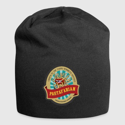 church of flying spaghetti monster with forks - Jersey Beanie