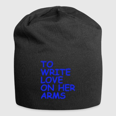 to write love on her arms blau - Jersey-Beanie