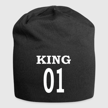 King01white - Beanie in jersey