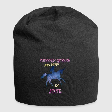 unicorn queens are born in june - Jersey-Beanie
