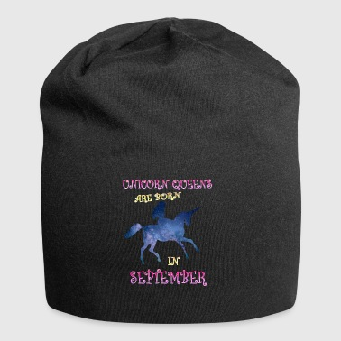 Unicorn queens are born in september - Jersey Beanie
