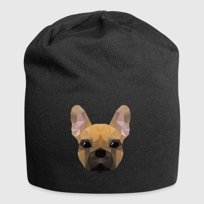 Franse Bulldog - laag poly stijl - Jersey-Beanie