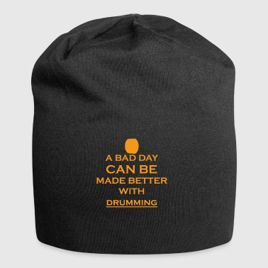 gift bad day better drums drum drum - Jersey Beanie