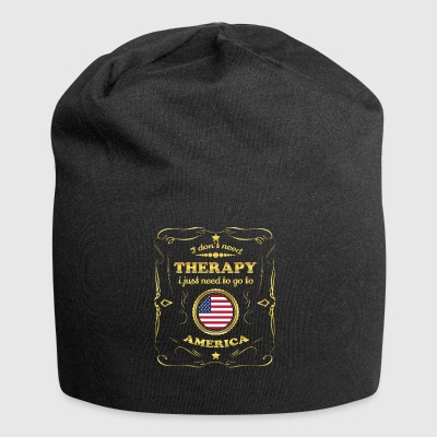 DON T NEED THERAPY GO TO UNITED STATES AMERICA - Jersey Beanie