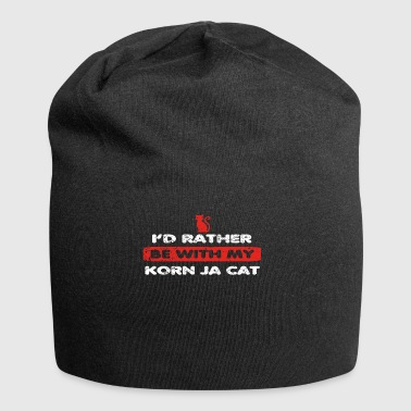 Cat Cat rather at my KORN YES CAT - Jersey Beanie