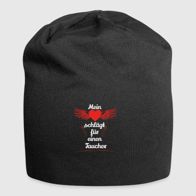 gift heart beats girlfriend diver - Jersey Beanie