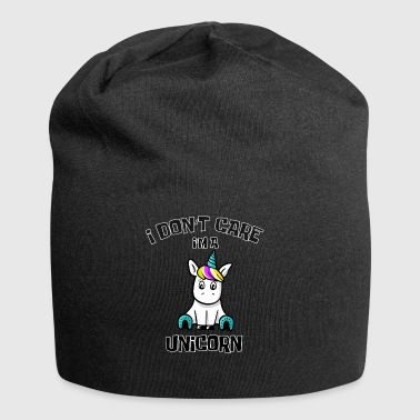 I do not care I'm a unicorn shirt for girls - Jersey Beanie