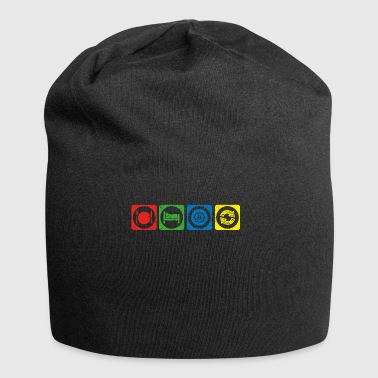 eat sleep repeat crypto hodl bitcoin XBS crypto cr - Jersey Beanie