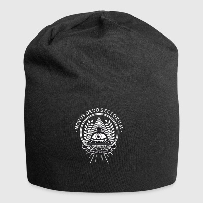 Illuminati conspiracy eye pyramid secret - Jersey Beanie
