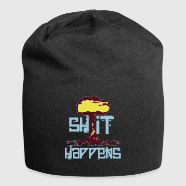 shit happens - Beanie in jersey