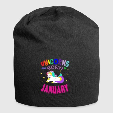 Unicorns Are Born in January Einhorn - Jersey-Beanie