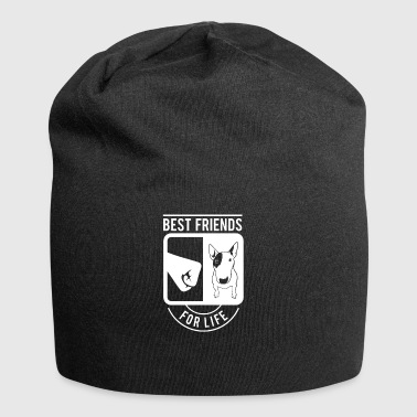 Best Friends for Life Bull Terrier Bull Terrier - Beanie in jersey