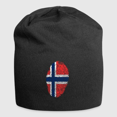 fingerprint i love NORWEGEN norway denmark - Jersey-Beanie