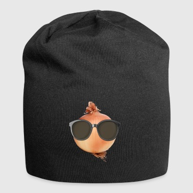 Onion Gifts> Funny Onion Wearing Sunglasses Onion - Jersey Beanie