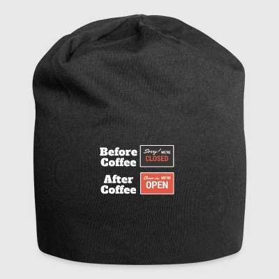 Coffee Before & After Funny T-Shirt - Jersey Beanie