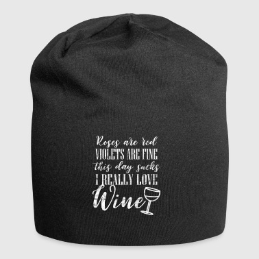 Poem about my love for wine - Jersey Beanie