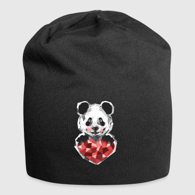 Animal Life Panda Love Heart Animal Panda Bear - Jersey Beanie