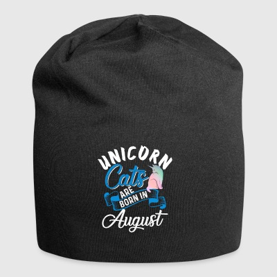 Unicorn Cats Are Born In August - Jersey Beanie