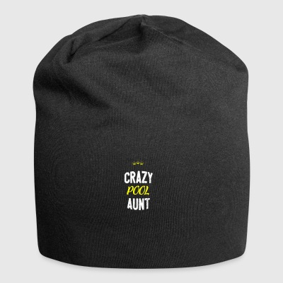 Distressed - CRAZY POOL AUNT - Jersey Beanie