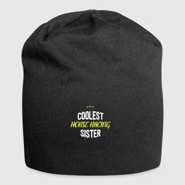 Distressed - COOLEST HORSE RACING SISTER - Jersey Beanie