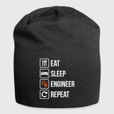 Eat Sleep Engineer Repeat - Jersey Beanie