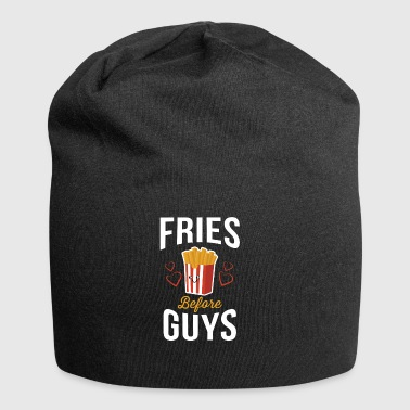 Fries Before Guys Pommes vor Jungs Shirt - Jersey-Beanie