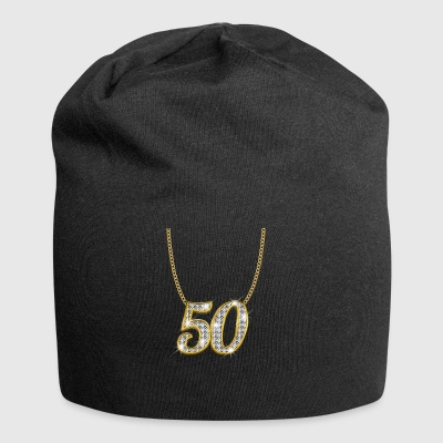 50 50th birthday queen princess gold gift - Jersey Beanie