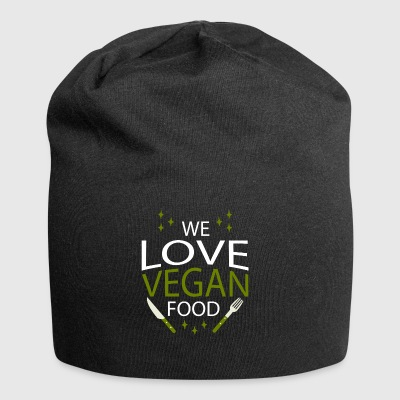We love vegan food - Jersey Beanie