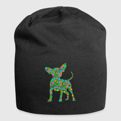 Chihuahua hunderase blomster gave - Jersey-beanie